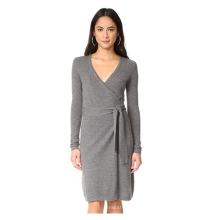 PK18A83HX 100% Cashmere Wrap Dress