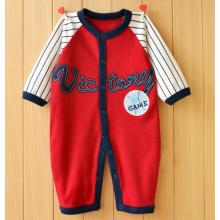 Long Sleeve Infant Romper with Cute Printing and Embroidery in Baby Clothes
