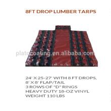 Personalizada China-made Vinly camión de madera Tarps con Drings y ojales de latón