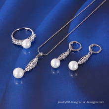 Xuping Newest Pearl Jewelry Set (61049)