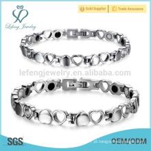 Pulseira de aço inoxidável, braceletes de pulseiras novas