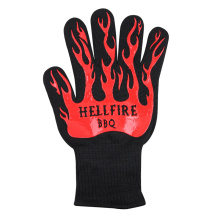 High Temperature Working Red Flame Custom Gloves