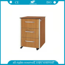 AG-BC016 ABS Engineering plastic hospital cheap bedside cabinet