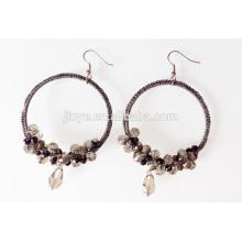 Boucles d'oreilles en perles de cristal au crochet bohémien