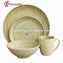 Utensilios de cocina conjunto de vajillas de porcelana polonia