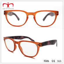 Ladies Plastic Reading Glasses with Flower Paper Transfer (WRP507259)