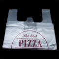 Sac à provisions jetable alimentaire T-shirt PE Pizza
