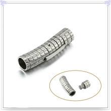 Accesorios de moda Pulsera de cuero Cierre de acero inoxidable (SL0001)