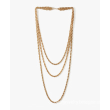 Simple multi-layer 18k gold necklace chains bulk