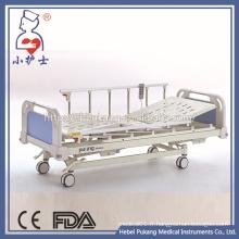 Lit d'hôpital électrique à moteur en acier inoxydable