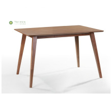 Beveled Table Top Solid Wood Dining Table