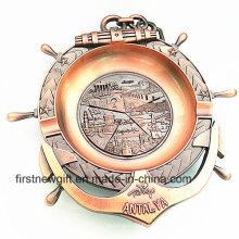 Regalos de recuerdo de Antalya personalizado 3D Grabar Logo Metal Cenicero (B5006)