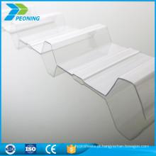 Painel claro de policarbonato ondulado claro exclusivo