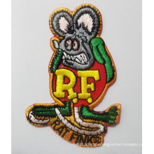 Rat Symbol Patch Irregular Woven Embroidery Badges (GZHY-PATCH-016)