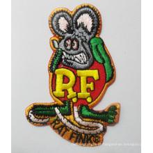 Emblemas tecidos irregulares do bordado do remendo do símbolo do rato (GZHY-PATCH-016)