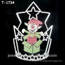 Hermoso duende de cristal sorpresa de navidad desfile coronas