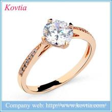 Chinese Yiwu Hersteller Ringe Schmuck Titan Gold Diamant Ring Preis