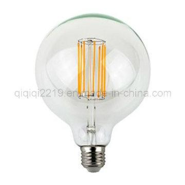 8W 650lm G125 220V LED Filament Bulb
