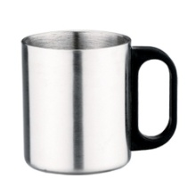 Double Wall Stainless Steel Coffee Cup With Plastic Handle