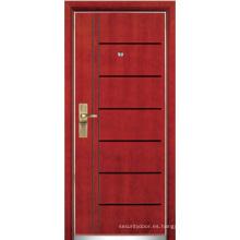 Puerta blindada de madera de acero (YF-G9041)