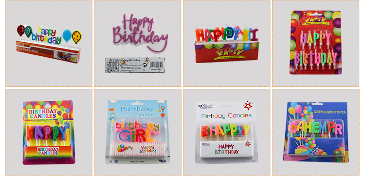 Birthday Letters Candle