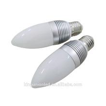 Lumière à bougie LED en aluminium ou en verre 2015
