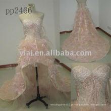PP2466 novo arriva lfree envio Halter frisado vestido de noite de renda 2011