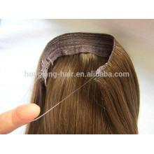 Good Quality Human Remy Hair Halo Hair Extensions with Wire