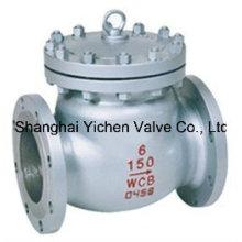 Válvula de retención de China de acero fundido inoxidable Swing (H44H)