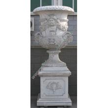 Marmor Blume Vase für Garten Stein Möbel (QFP189)