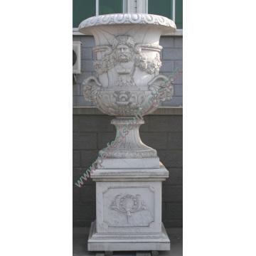 Florero de mármol para muebles de piedra de jardín (QFP189)