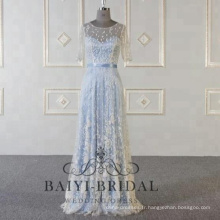 Bleu royal robes de soirée femmes sirène robe de bal 2018 dernière longue robe de soirée