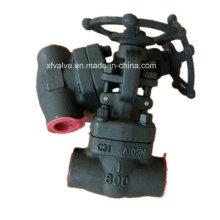 API602 800lb Forged Steel A105 Rosca final NPT válvula de compuerta