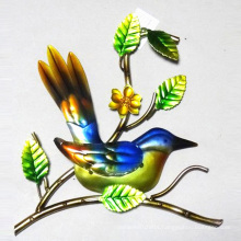 Colorful Metal Bird Wall Plaque Garden Decoration