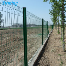 PVC Coated  Metal Panels Triangle Bending Fence