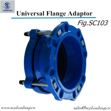 Adaptador de flange de tubo de ferro dúctil / adaptador de flange universal