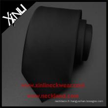 Nettoyer à sec seulement 100% fait à la main des hommes tissés faits sur commande courtes cravates en soie noires