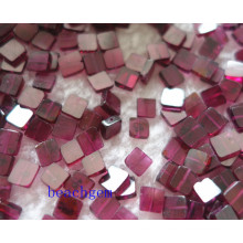 Jewelry Parts-Natural Garnet Square Beads