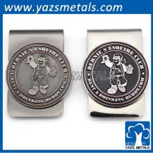 custom logo metal craf bagde clips