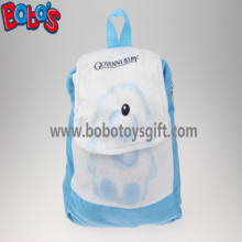 "11.8""Blue and White Children Backpack Has a Pattern of Bear Bos-1232/30cm"
