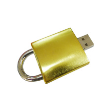 Metal Golden 16gb bloqueio Usb Flash Drive