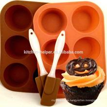 Umweltfreundliche professionelle Hersteller Fabrik Preis Muffin Form Kuchen Pan Non-Stick 6 Cups Silikon Muffin Pan Kuchen Pan