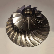 Custom 5-axis CNC Milling Titanium Turbine Impeller
