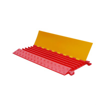 Outdoor Orange & Yellow Heavy Duty PU Plastic 5 Channel Cable Guard