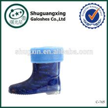 Резиновая обувь дождь покрытия для детей дождя сапоги фабрика зимние/C-705