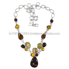 925 Sterling Silver & Pitersite Jasper Rutileted Quartz Citrine Garnet Gemstone Jewelry at Best Price