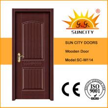 Projeto barato da porta da madeira contínua do preço barato (SC-W114)