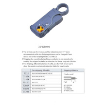 Professional 2 Blades RG Cable Stripper