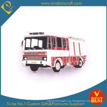 Emblema do Pin do carro de bombeiros para a lembrança como o presente da publicidade