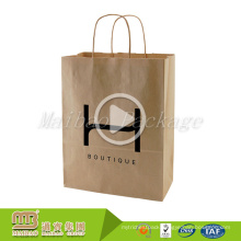 Alibaba Supplier Low Cost Custom Fashion Twisted Handles Kraft Paper Bag Manufacturer In Malaysia